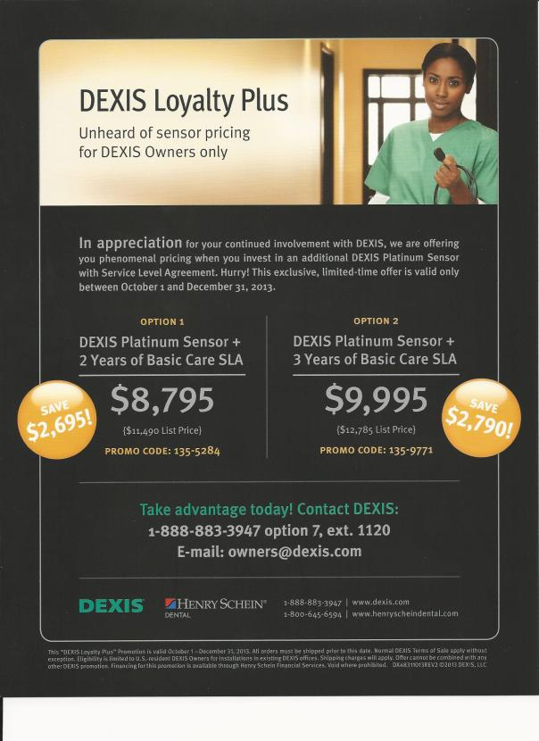 DEXIS 2013 END OF YEAR PROMOTION